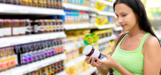 het voedingsetiket foto FOD
